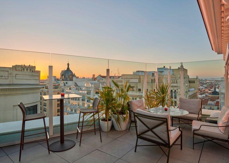terrazas de restaurantes y hoteles de Madrid 1